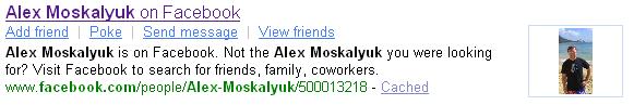 Yahoo! SearchMonkey Facebook