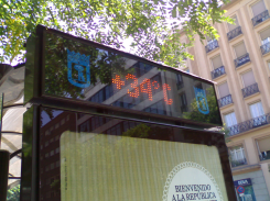 34 grados en Madrid