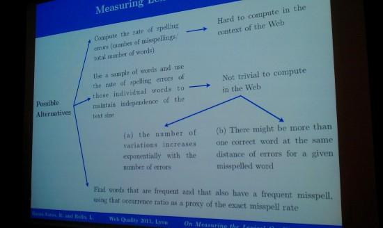 #WWW2012: WebQuality 2012, Web Quality Session