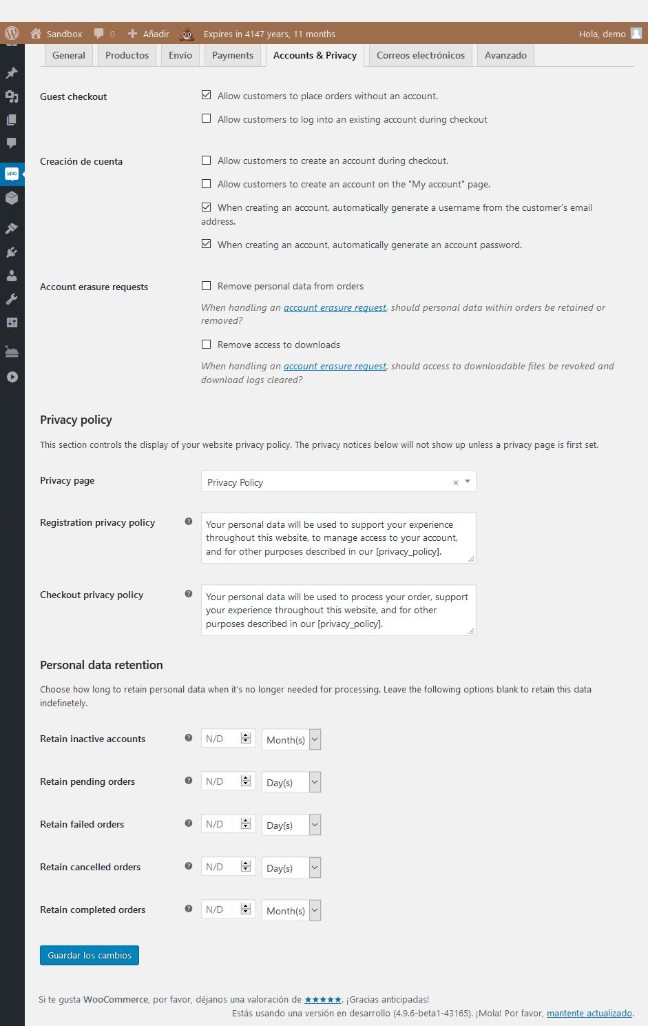 WordPress 4.9.6, privacidad y GDPR