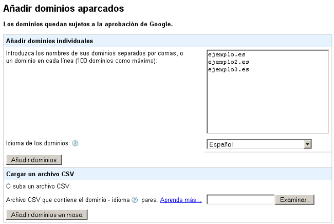 Adsense for Domains
