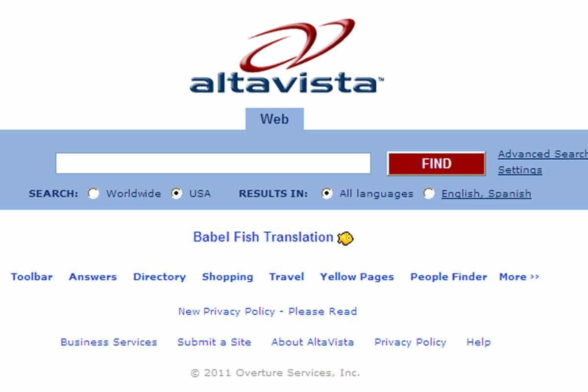 Overture comprará AltaVista por 140 millones de dólares