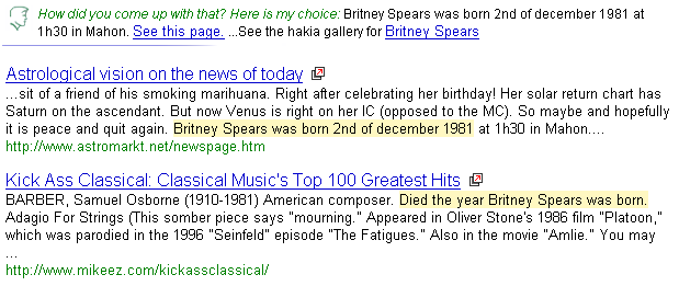 fecha de Nacimiento de Britney Spears