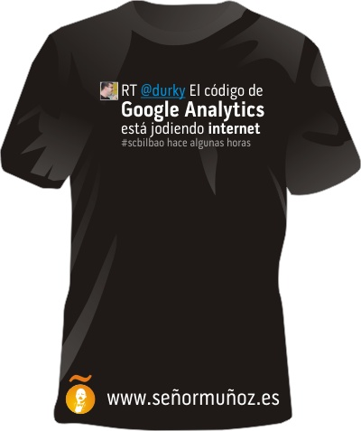 Camisetas tweet del Search Congress Bilbao