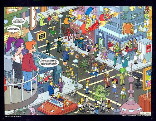 ... o si Futurama y Los Simpson fueran la misma serie