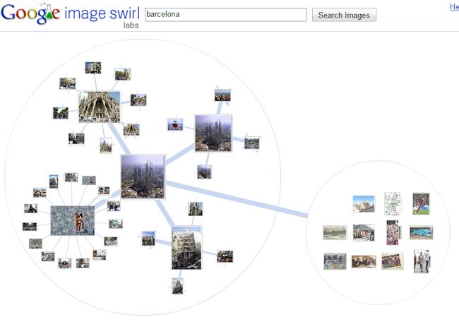 Navegación a través de Google Image Swirl