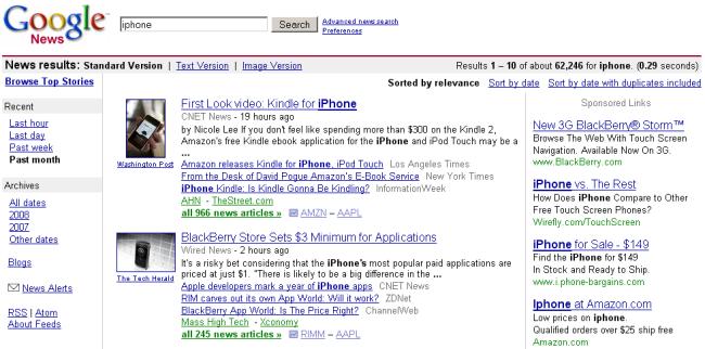 Anuncios en Google News
