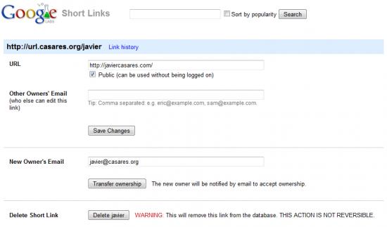 Tu propio acortador de URL gracias a Google Short Links