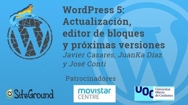 Vídeo: WordPress 5, editor de bloques y próximas versiones
