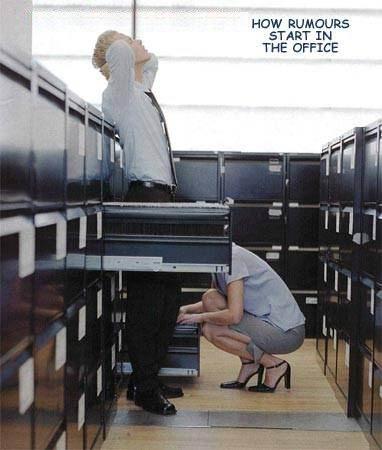 Cómo empiezan los rumores en la oficina