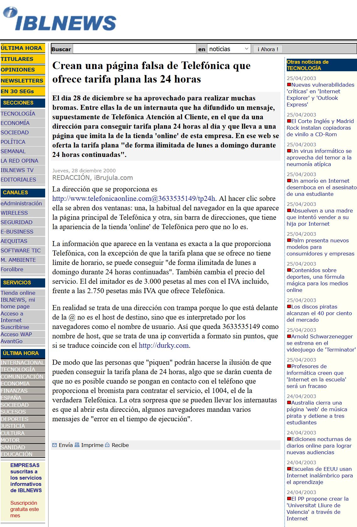 Recuperando la Inocentada del año 2000