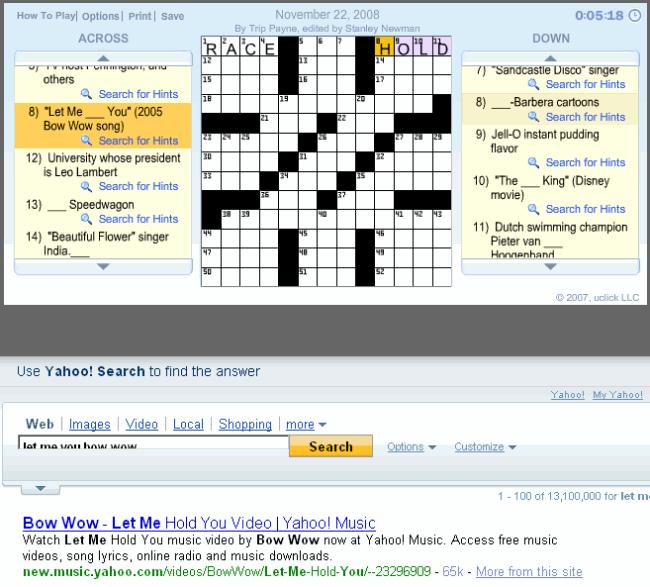 Juegos con Yahoo! Search