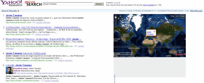 Yahoo! Research Microsearch