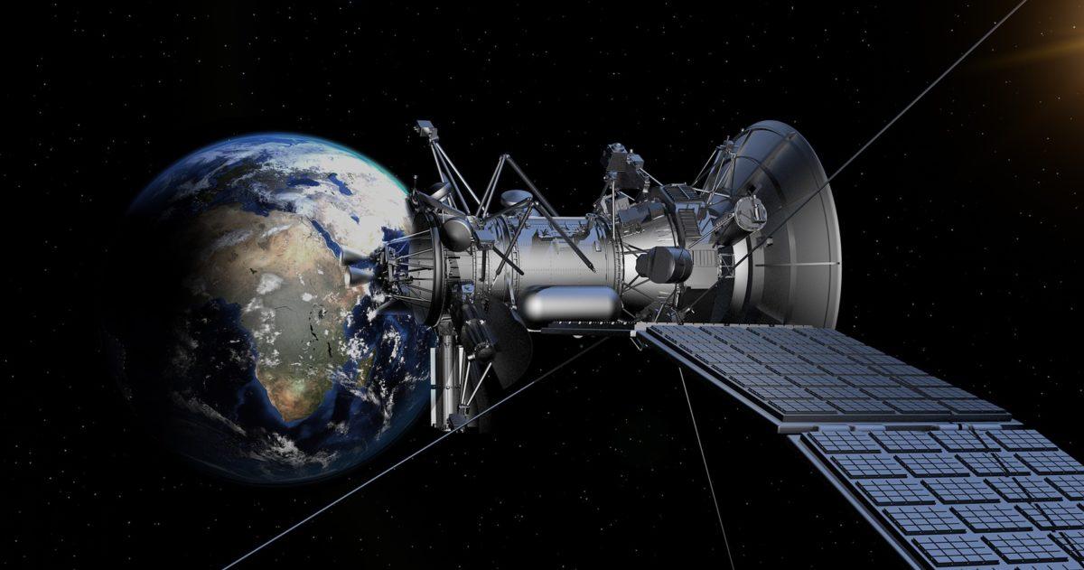 Un satélite en la órbita de Internet
