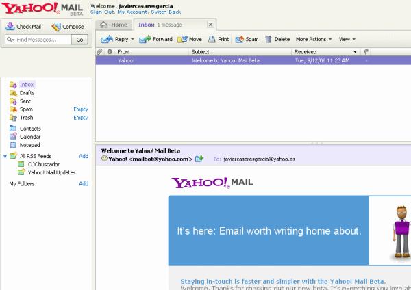 Yahoo! Mail beta